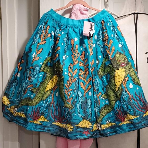 Vixen by Micheline Pitt Dresses & Skirts - Vixen Swing Skirt in Swamp Monster Print
